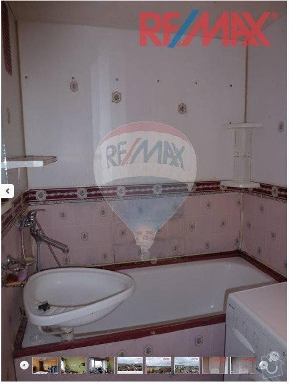 Rekonstrukce umakartového jádra: koupelna