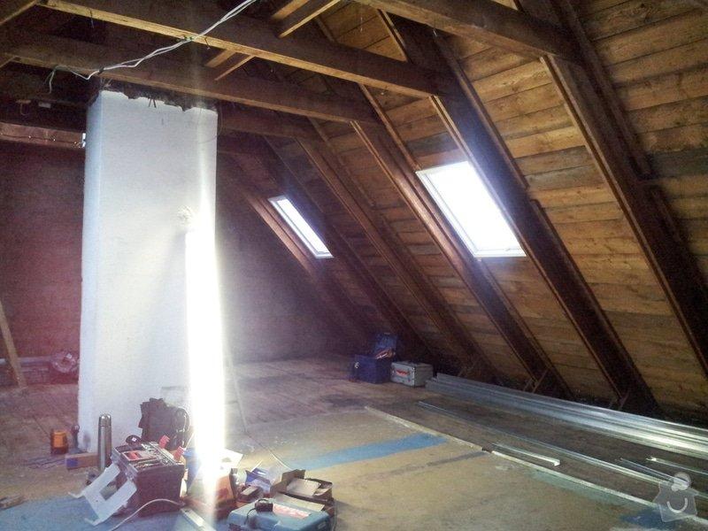 Montáže sádrokartonu,půdní vestavba,izolace Knauf,suché podlahy Fermacell,plovoucí podlaha,elektrikářské práce: 01
