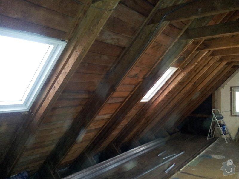Montáže sádrokartonu,půdní vestavba,izolace Knauf,suché podlahy Fermacell,plovoucí podlaha,elektrikářské práce: 03