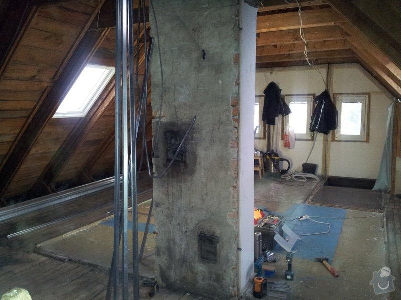 Montáže sádrokartonu,půdní vestavba,izolace Knauf,suché podlahy Fermacell,plovoucí podlaha,elektrikářské práce: 04