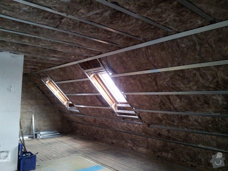 Montáže sádrokartonu,půdní vestavba,izolace Knauf,suché podlahy Fermacell,plovoucí podlaha,elektrikářské práce: 05