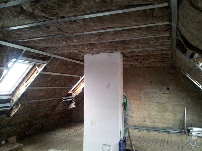Montáže sádrokartonu,půdní vestavba,izolace Knauf,suché podlahy Fermacell,plovoucí podlaha,elektrikářské práce: 06