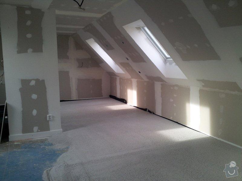 Montáže sádrokartonu,půdní vestavba,izolace Knauf,suché podlahy Fermacell,plovoucí podlaha,elektrikářské práce: 09