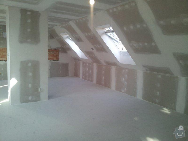 Montáže sádrokartonu,půdní vestavba,izolace Knauf,suché podlahy Fermacell,plovoucí podlaha,elektrikářské práce: 10