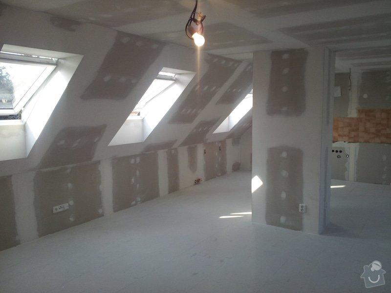 Montáže sádrokartonu,půdní vestavba,izolace Knauf,suché podlahy Fermacell,plovoucí podlaha,elektrikářské práce: 11