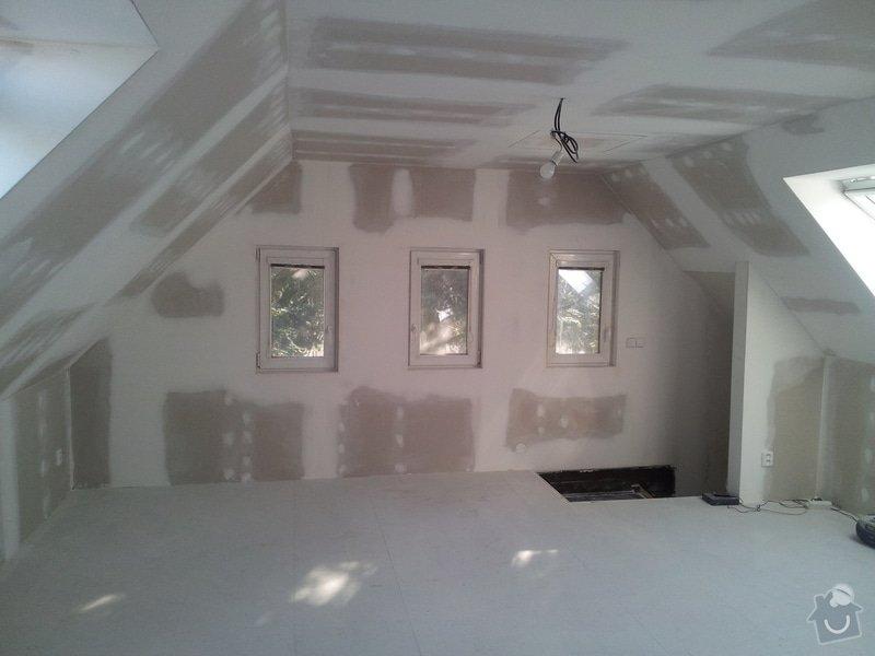 Montáže sádrokartonu,půdní vestavba,izolace Knauf,suché podlahy Fermacell,plovoucí podlaha,elektrikářské práce: 12