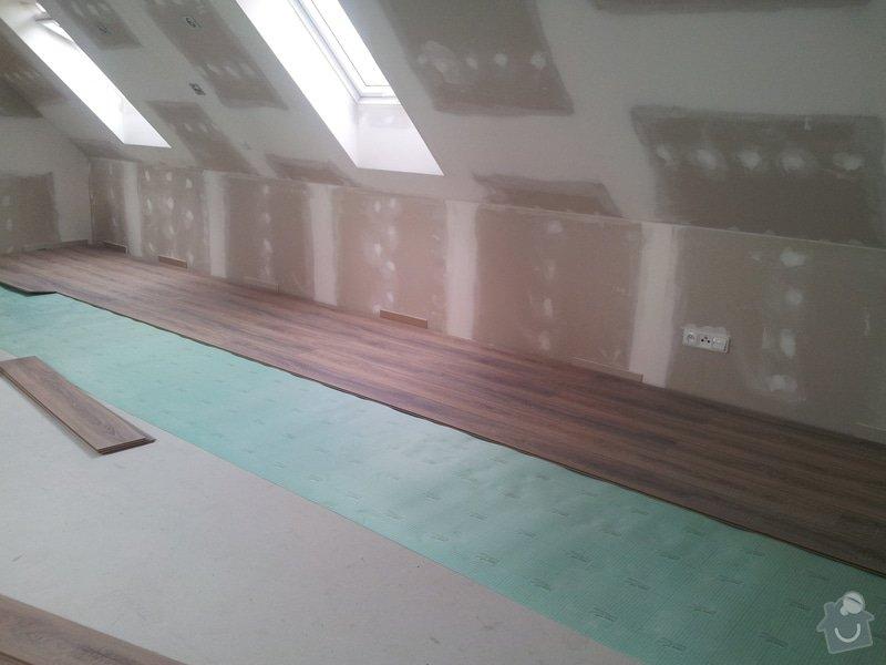 Montáže sádrokartonu,půdní vestavba,izolace Knauf,suché podlahy Fermacell,plovoucí podlaha,elektrikářské práce: 13