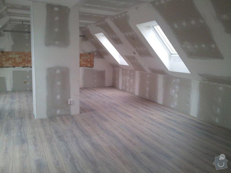 Montáže sádrokartonu,půdní vestavba,izolace Knauf,suché podlahy Fermacell,plovoucí podlaha,elektrikářské práce: 14