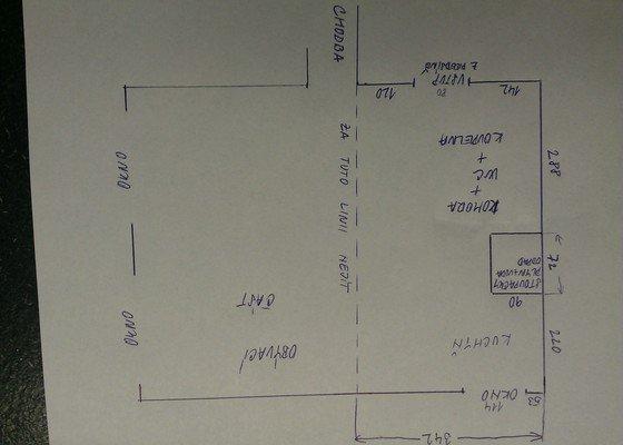 Architektonický návrh přestavby bytového jádra a kuchyně