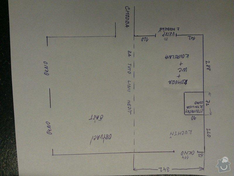 Architektonický návrh přestavby bytového jádra a kuchyně: WP_000633