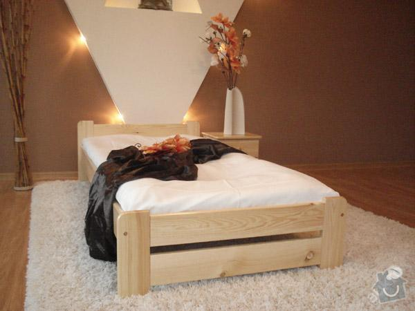 Dřevěná postel 200x90cm: 4112784264