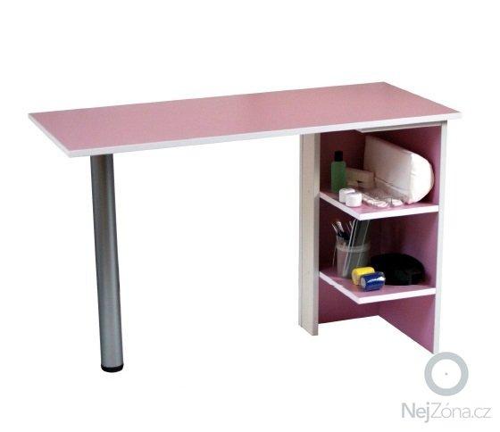 Stolek k modeláži nehtů: _vyrd13_3599man_stolek_pink_4