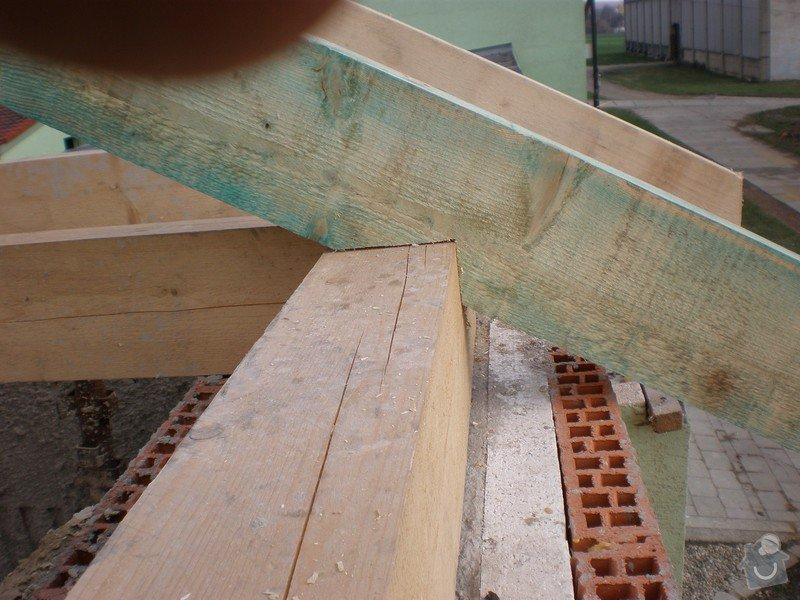 Výroba dřevěného krovu vč.dřevěného stropu,výroba zastřešené pergoly: P4030010