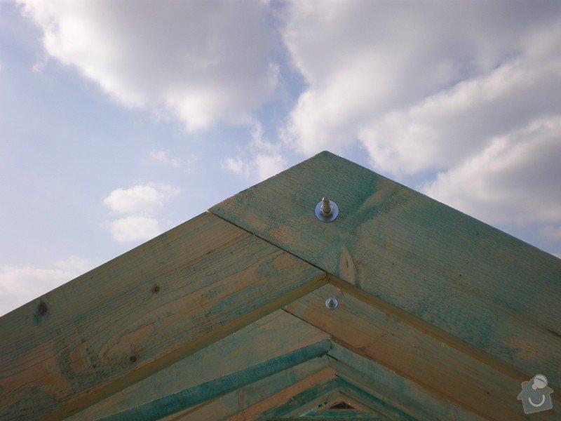 Výroba dřevěného krovu vč.dřevěného stropu,výroba zastřešené pergoly: P4030011