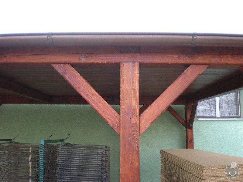 Výroba dřevěného krovu vč.dřevěného stropu,výroba zastřešené pergoly: P4030019