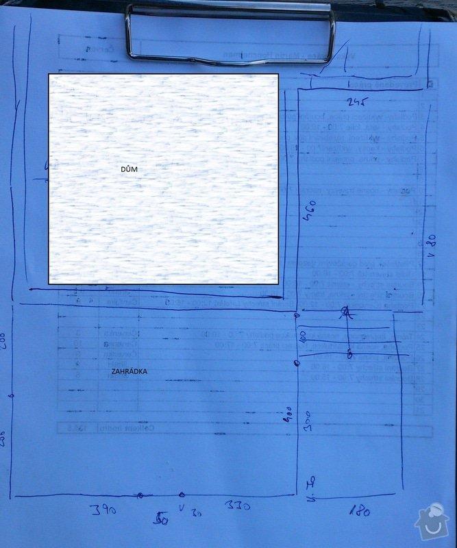 Rekonstrukce venkovních schodů: Plan