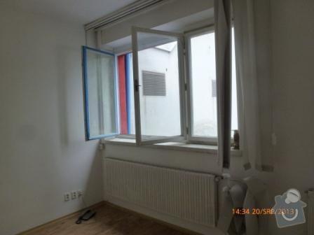 Rolety do pěti veřejí oken, bez vrtání: okno1