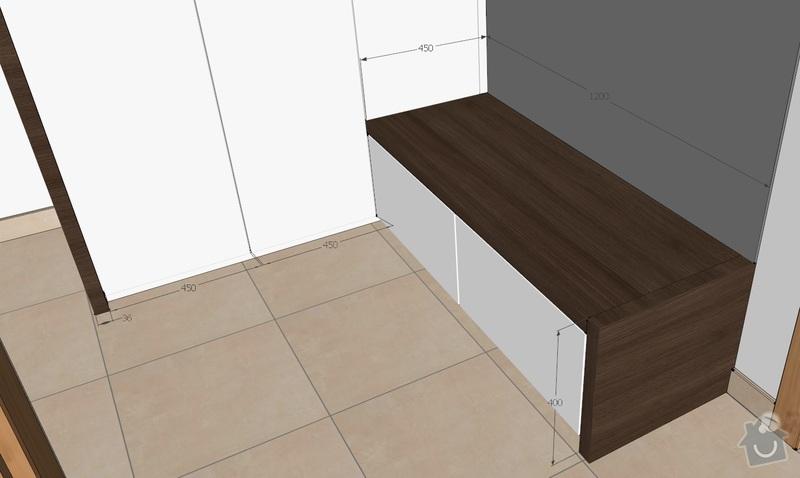 Truhlářské práce uložné prostory, tv stolek, poličky: 1