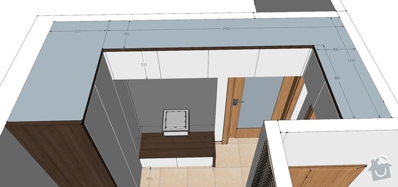 Truhlářské práce uložné prostory, tv stolek, poličky: 2
