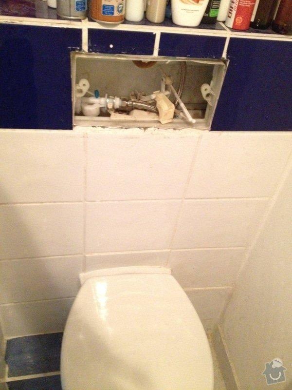 Oprava toalety s podomitkovou nadrzkou: wc2