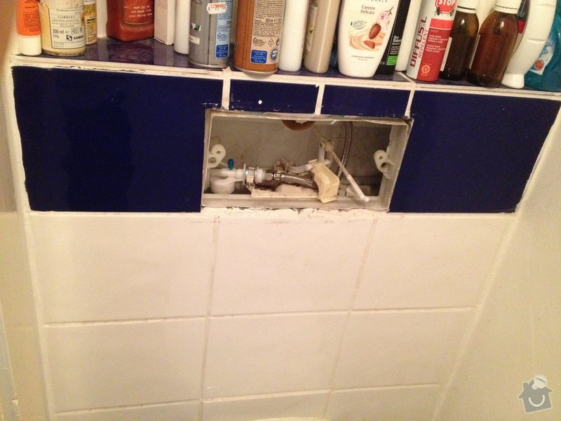Oprava toalety s podomitkovou nadrzkou: wc1