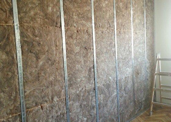 Odhlučnění stěny bytu, plocha stěny 16m2