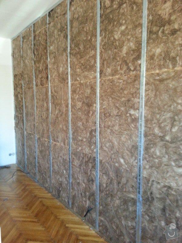 Odhlučnění stěny bytu, plocha stěny 16m2: 20140313_105201