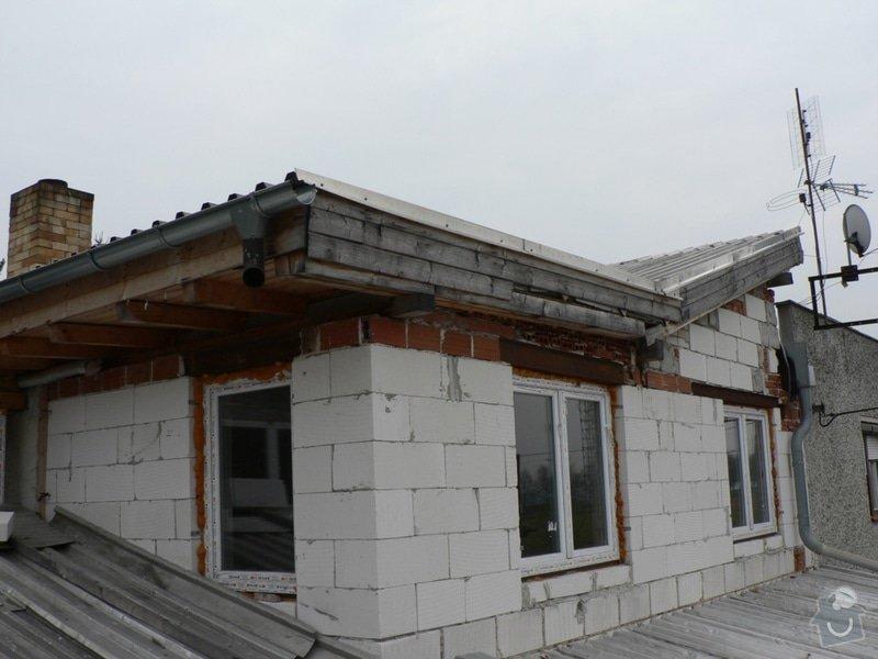 Výměna střešní krytiny, klempířské práce: P1130167