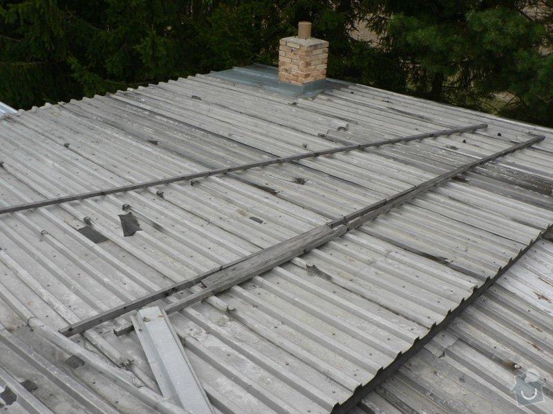Výměna střešní krytiny, klempířské práce: P1130185