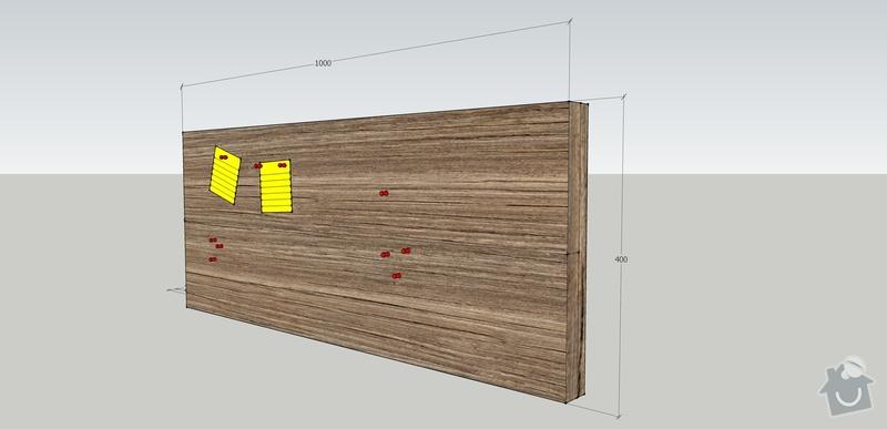 Jednoduchý nábytek z měkkého dřeva - nástěnka, stolek: nastenka_upravena