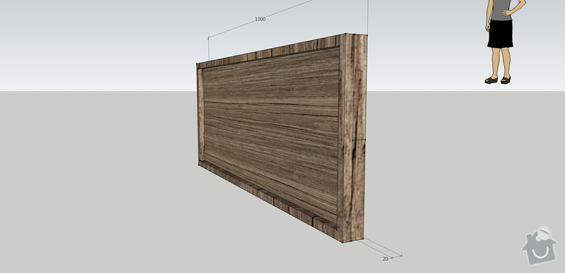 Jednoduchý nábytek z měkkého dřeva - nástěnka, stolek: nastenka_upravenaI