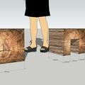 Jednoduchy nabytek z mekkeho dreva nastenka stolek sedak nocni stolek