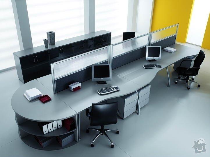 Vybavení kanceláře pro 4 osoby.: Nabytek