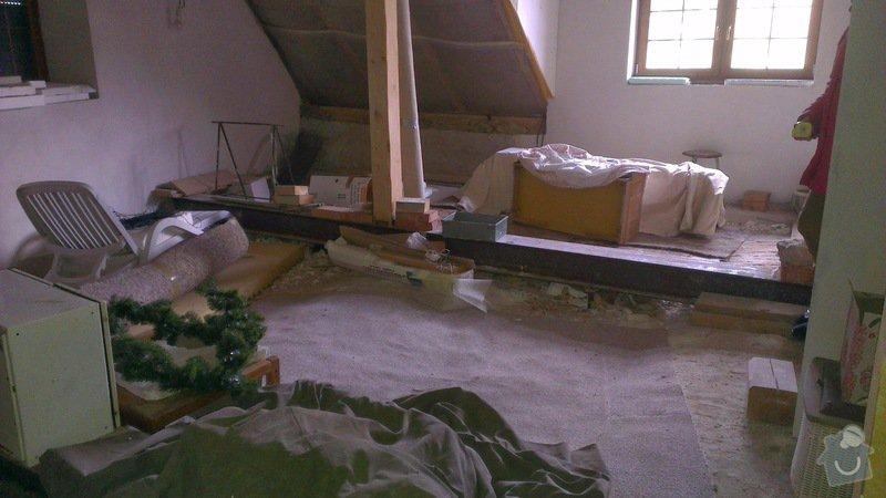 Nosný trámový rošt a montovanou podlahu pro podkroví, 46 m2: IMAG0637