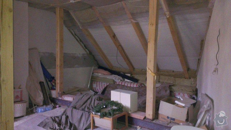 Nosný trámový rošt a montovanou podlahu pro podkroví, 46 m2: IMAG0639