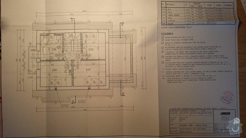 Stavba obvodové zdivo, věnec, po krov: 20140126_155833