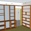Knihovna do bytu situace obyvak