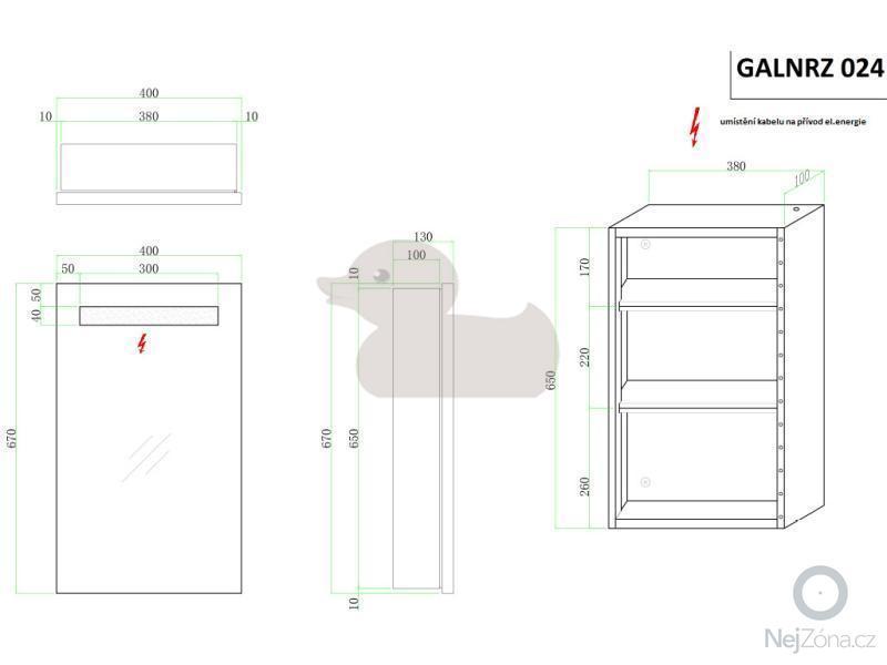 Montáž a zapojení zrcadlové skříňky se světlem: GALNRZ024_2354018_bg
