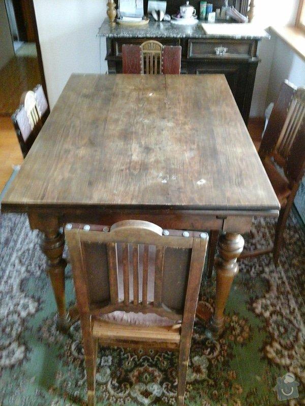 Opravu čalouněných židlí - renovace opěrných částí + sedáků.: 20140404_143927