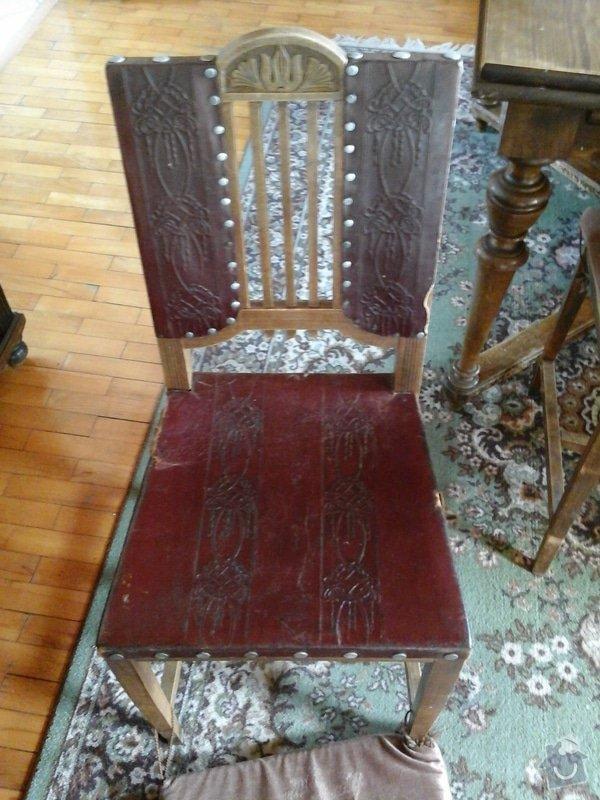 Opravu čalouněných židlí - renovace opěrných částí + sedáků.: 20140404_143707