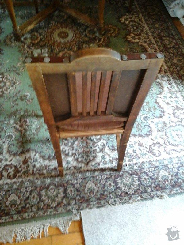 Opravu čalouněných židlí - renovace opěrných částí + sedáků.: 20140404_143501