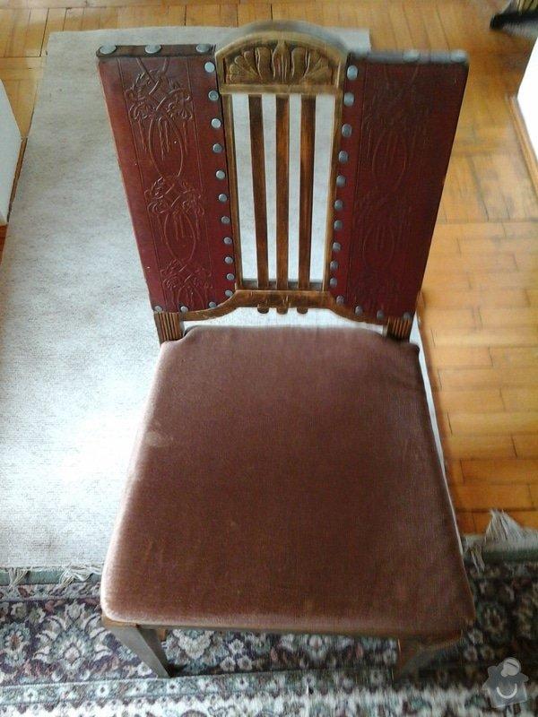 Opravu čalouněných židlí - renovace opěrných částí + sedáků.: 20140404_143430