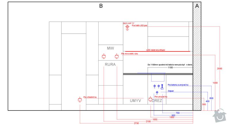 Príprava elektroinštalácie pre montáž kuchyne: b_instal