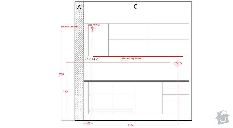 Príprava elektroinštalácie pre montáž kuchyne: c_instal