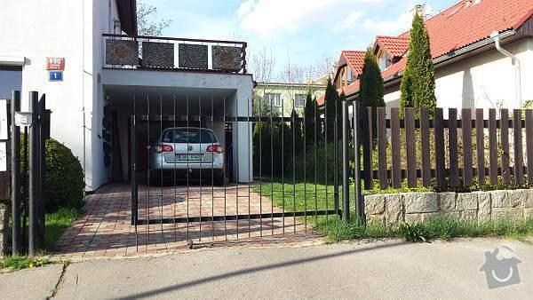 Posuvná brána a předokenní rolety: 20140407_165736