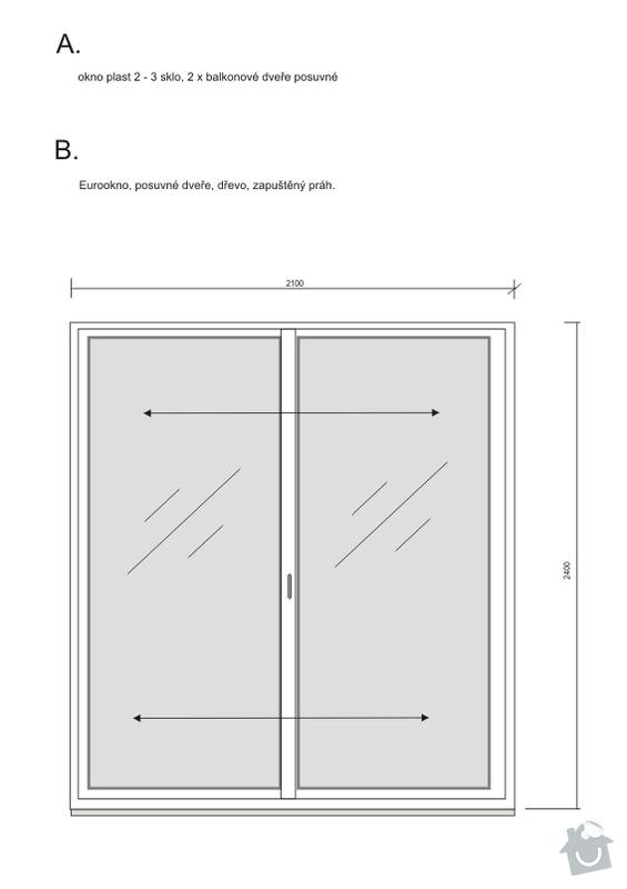 Poptávka: dodavatel oken, plastová nebo Eurookna, Praha 10 : okna_posuv_louze