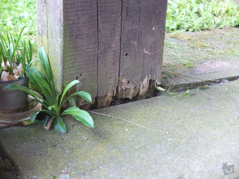 Výměna dřevěných sloupů venkovního přístřešku: Fotografie_-_8820