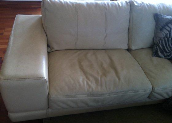 Vyčištěmé a impregnace 2 kožených sedaček