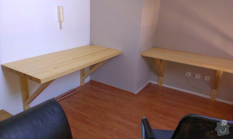 Výroba a montáž knihovny a dvou pracovních desek stolu: IMAG0291