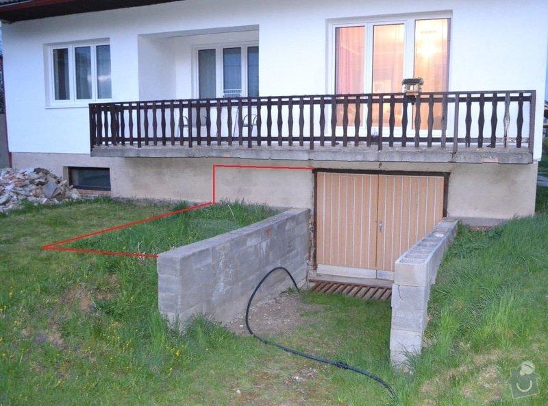Rozšíření vjezdu garáže a nový překlad: garaz01